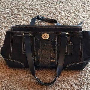 Preowned black coach purse